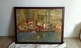 Framed picture of a harbour