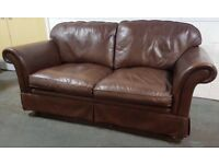 Laura Ashley leather chesterfield sofa Can deliver