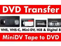 VHS Tape to DVD Transfer