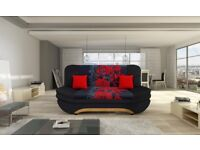 Modern Sofa Bed with storage SETTEE COUCH bonell springs polskie wersalki