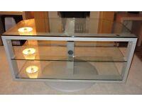 """Ikea """"SVIND"""" Glass / Metal swivel TV stand. Cardiff £40.00"""