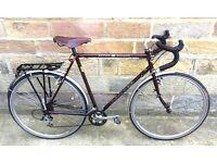 Dawes Super Galaxy mens touring bike, metallic dark red - Harrogate/York