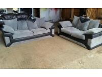 Pending Collection Grey and Black Fabric Suite