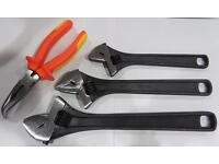 "Adjustable spanner wrench 8"" 10"" 12"" 15"" 18"""