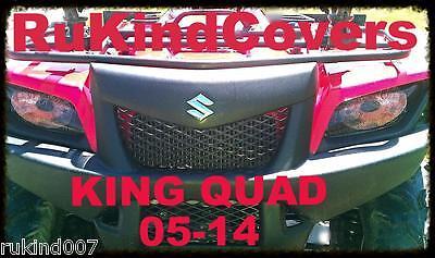 SUZUKI KING QUAD Headlight Covers RED EYES  05-14 SALE!!!!