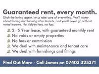 Landlords - Guaranteed Rent - 1-5 Years
