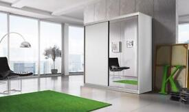 Mirrored Sliding Wardrobe - Fast And Free Delivery - Brand new