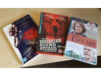 3x great DVDs - Berberian Sound Studio, A Most Violent Year & 45 Years - art film indie