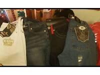 Job lot men's and women's jeans