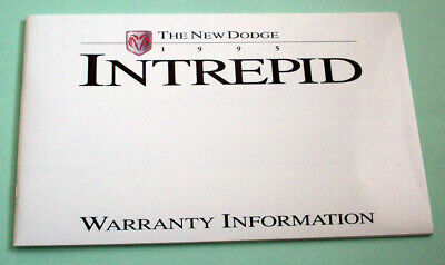 1995 Dodge Intrepid Warranty Information Booklet - Unused