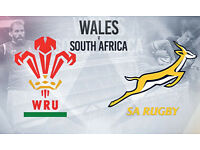 Wales v South Africa Tickets - £35 - KO 5.30 - Upper, Middle & Lower tier