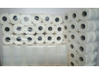 36 x Toilet Rolls, 2 PLY 200 Sheets Tissue Quilted Paper Virgin Pulp White Colour, Embossed Pattern