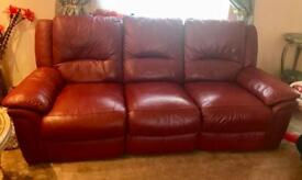 Leather sofa suite for sale 3+2 Seater bargain