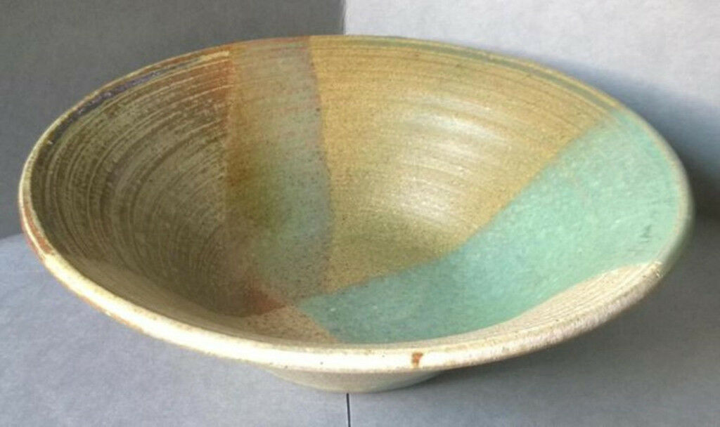 vintage glazed pottery bowl