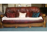 FREE - three piece leather sofa suite to take away asap