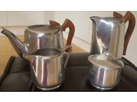 A vintage four piece 1950's/60's Picquot Ware tea/coffee set