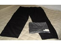 2 Pairs of Black Cargo Trousers
