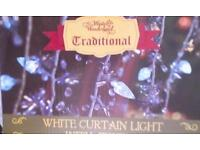 Curtain white led by lights