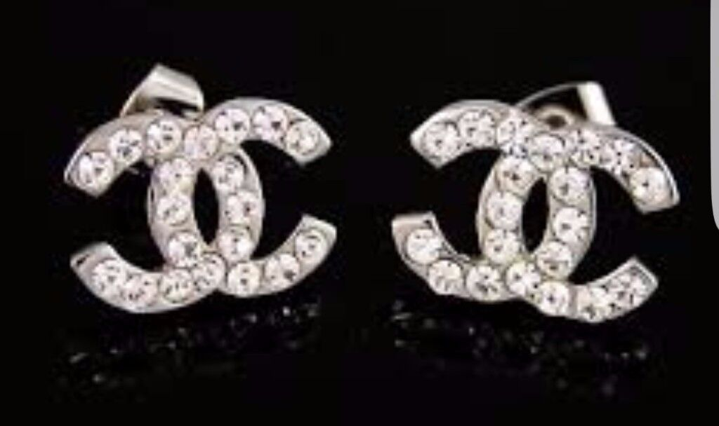 NWT CC Earrings/bracelet Silver Gold Black
