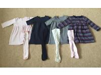 Girls dress and tights bundle 6-9 months