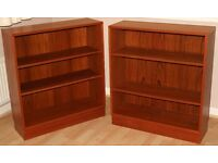 A pair of Gplan teak bookcases in good condition.
