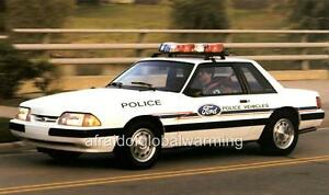 old photo 1993 ford mustang police car. Black Bedroom Furniture Sets. Home Design Ideas