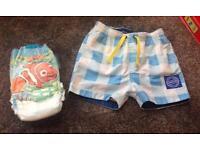 Baby swimming shorts & swim nappy