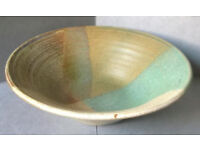 vintage glazed pottery bowl