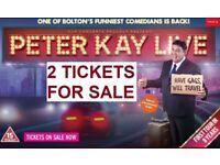 Peter Kay Live Tour - 2 x Tickets Newcastle Metro Arena Friday 15/02/19