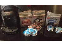 Tassimo coffee machine with lots of pods