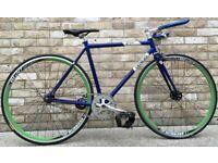 52cm Genesis Flyer Single speed road bike free wheel /fixie fixgear flip flop hub road bike bicycle