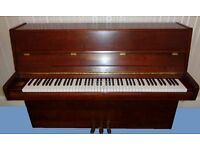 Beautiful upright Reid-Sohn Piano - lovely sound. In Cherry Wood finish with matching stool. - £600