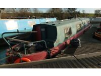 Narrowboat Canal Boat Project 40 foot non runner can tow to hardstanding if local