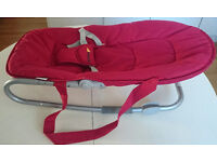 Hauck Burgundy Red Baby bouncer / bouncy chair for sale SE10