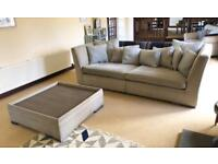 Sofa Set - 2 Large Sofas and Matching Footstool/Table