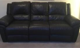 Genuine leather electric reclining sofas (3 seater and 2 seater)