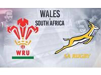 Wales Vs South Africa tickets £40 each