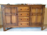 ERCOL SIDEBOARD/WELSH DRESSER VERY GOOD CONDITION -