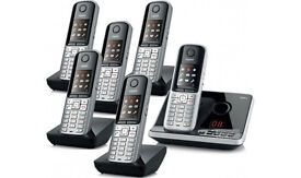 Cordless telephone sextet with answering machine