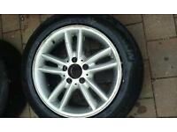 "16"" mercedes 5x112 alloys with thres"