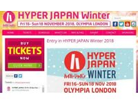 HYPER JAPAN 2018 Winter Sunday Session 2 Tickets on 18 Nov