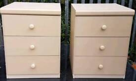 Pair of cream bedside tables