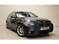 BMW 5 SERIES 2.0 520D M SPORT 4d AUTO 181 BHP + SAT NAV + B/TOOTH + LEATHERS (grey) 2012