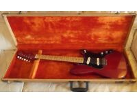 Fender vintage 1957 Duo-Sonic Short scale guitar with original hard case.