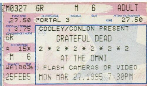 GRATEFUL DEAD TICKET STUB  03-27-1995  THE OMNI