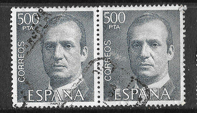 SPAIN 1976-82 KING CARLOS 500pta used pair