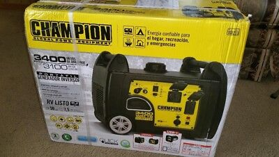 Champion Portable Inverter Generator Parallel Capability 3400W Power Backup