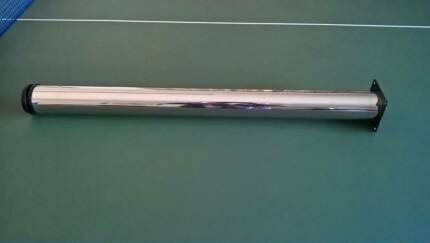 60mm Round x 710mm Long Chrome Adjustable Table Leg