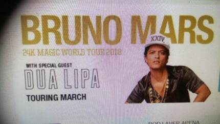 Bruno Mars.  Melbourne. One ticket