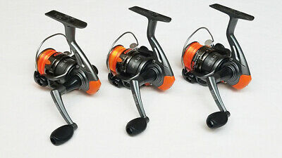 2BB SET OF 3 REELS 3 HT LAZER LZF-35G GOLD REEL FOR CRAPPIE POLE